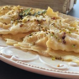Mortadella e pistacchi per gustosissimi ravioli