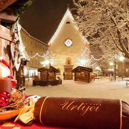 Val Gardena in bianco È la valle del Natale