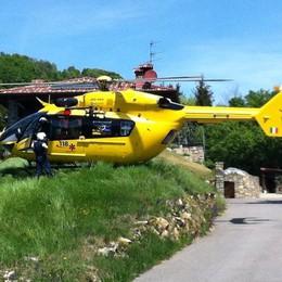 Granfondo, ciclista in una scarpata Soccorso con l'elicottero - Foto
