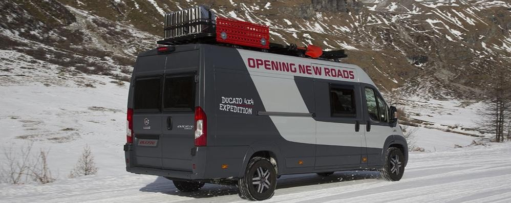 da fiat ducato 4x4 nasce il camper van expedition motori mondo. Black Bedroom Furniture Sets. Home Design Ideas