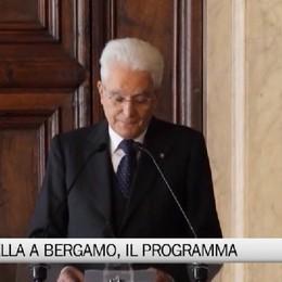 Mattarella a Bergamo, il programma