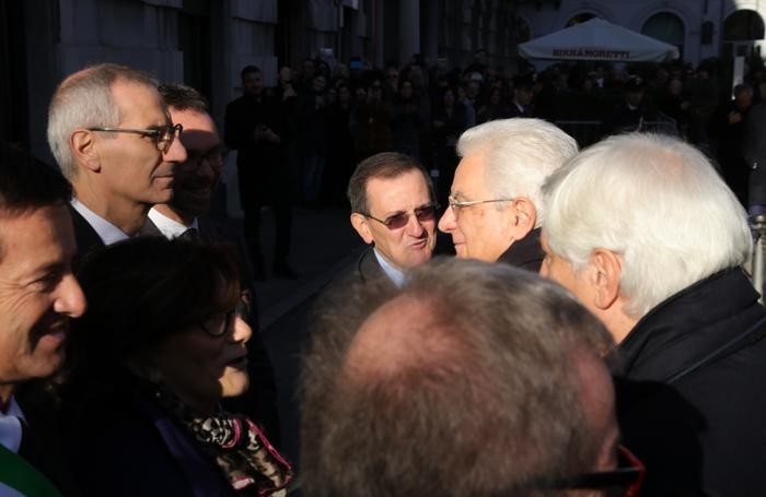 Mattarella incontra il direttore Alberto Ceresoli e il presidente della Sesaab Lucio Cassia