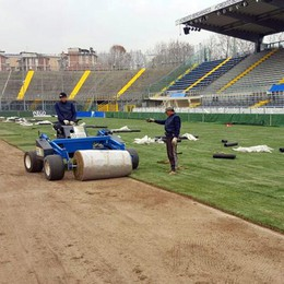 Stadio, campo rizollato in fretta e furia  Look nuovo per il match decisivo - Video