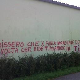 «Amore sì, ma che maleducazione» Sindaco di Villa d'Ogna contro la scritta