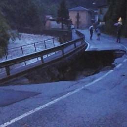 Nubifragio sulla Bergamasca - Video Voragine ad Algua, il Brembo fa paura