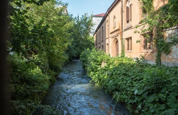 La roggia Serio in via Degli Albani