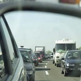 Due incidenti in autostrada Code tra Dalmine e Capriate