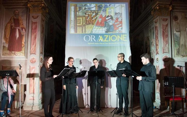 Da Lallio al debutto nelle Marche La storia di S. Bernardino a «vignette»