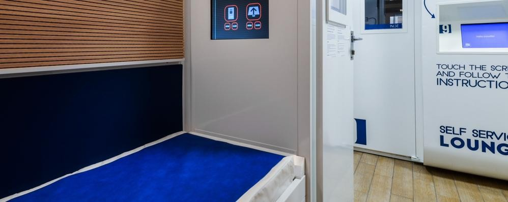 Orio, ecco come si dorme in aeroporto Ci sono 9 cabine,  si guardano anche i film