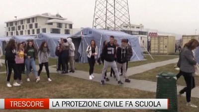 Trescore - La Protezione Civile fa scuola