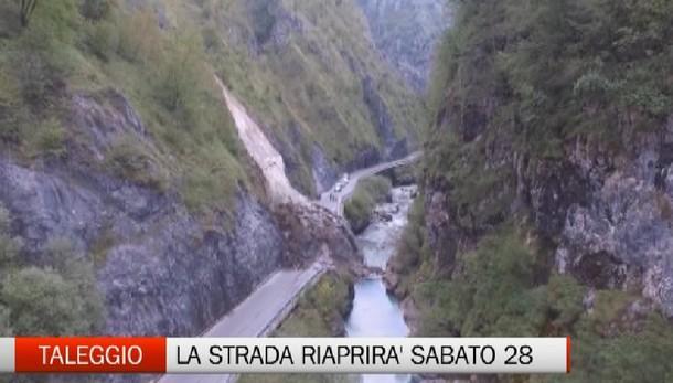 Val Taleggio, la strada riaprirà il 28 ottobre