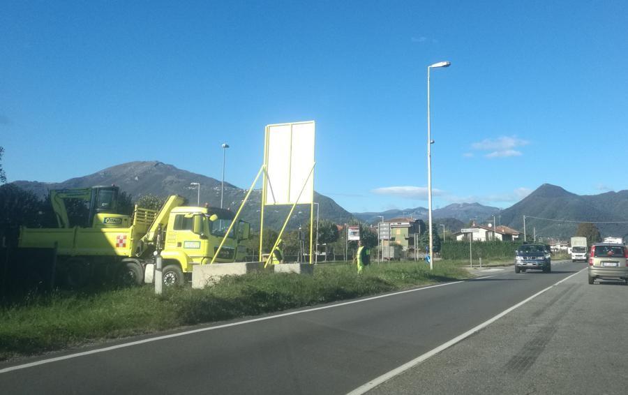Treviolo-Paladina, si parte Mezzi al lavoro sul cantiere