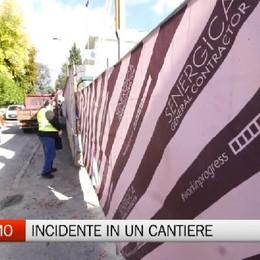 Operaio cade in un cantiere a Bergamo