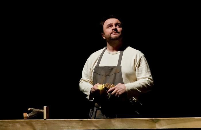 Natalino Balasso in L'Idiota di Galilea teatro