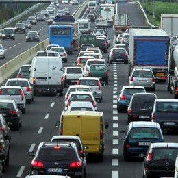 Incidente sull'autostrada A4 Tra Dalmine e Trezzo 6 km di coda