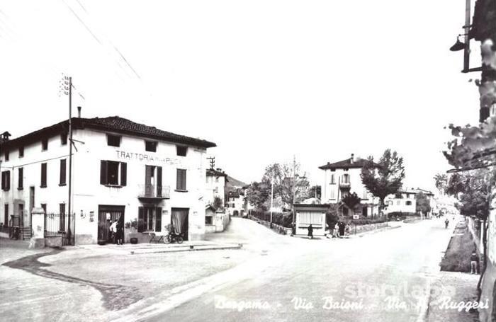 Via Baioni negli anni Cinquanta
