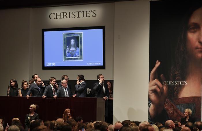 Asta record: il Salvator Mundi di Leonardo venduto a 450 milioni