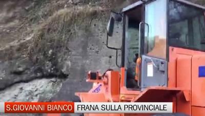 San Giovanni Bianco, nuova frana sulla strada per la Val Taleggio
