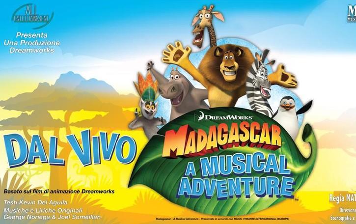 Il Creberg Teatro si trasforma in savana Il 2 dicembre arriva Madagascar