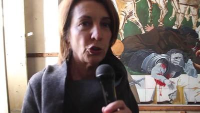 Il cantiere della Caserma di Montelungo Il dipinto recuperato contro la guerra