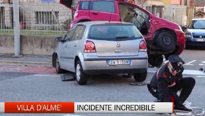 Incredibile incidente a Villa d'Almè