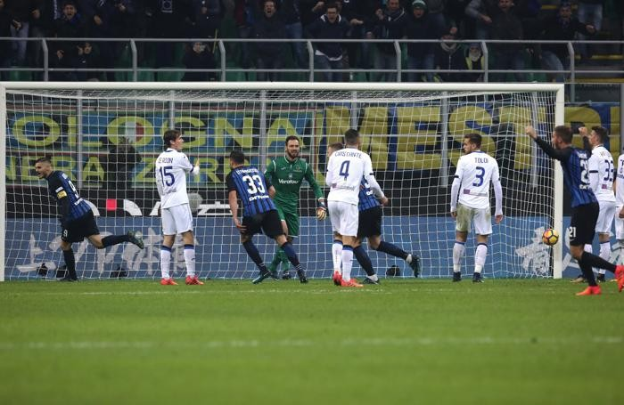Serie A TIM 2017-18 giornata 13 inter - atalanta gol icardi 1-0