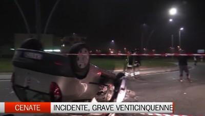 Incidente a Cenate Sotto, grave venticinquenne