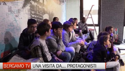 Visita con sorpresa a L'Eco di Bergamo e a Bergamo Tv