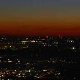 Che meraviglia la serata da San Vigilio Cielo limpido, si vede il Monviso - Foto