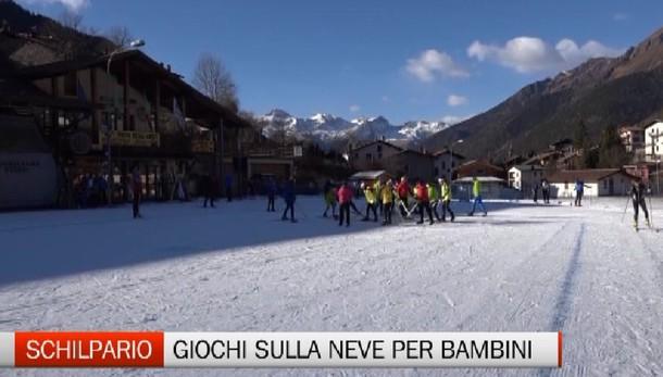 Schilpario, sci di fondo per bambini con gli Winter Games