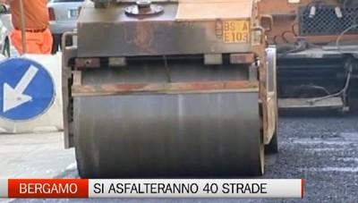 Un piano di asfaltature straordinario, per risanare circa 40 strade di Bergamo