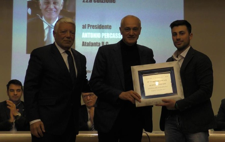 Bergamo, Galà del calcio 2017 Premiato Antonio Percassi