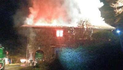 Incendio cascina a Cornale di Pradalunga
