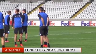 Atalanta contro il Genoa senza tifosi e sotto la pioggia