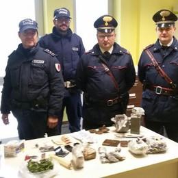 Arcene, in casa 7 kg di hashish In carcere coppia di quarantenni