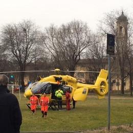 Investito da un'auto a Lurano  - Foto Bimbo in ospedale con l'elisoccorso