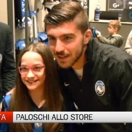 Alberto Paloschi all'Atalanta Store