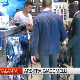 Alberto Grassi all'Atalanta Store