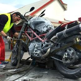 Gravissimo un altro motociclista Lo schianto sabato a Castelli Calepio