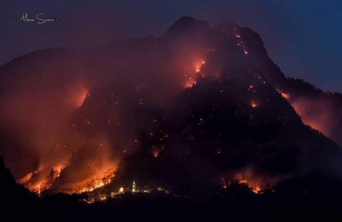 Il rogo in Val Chiavenna