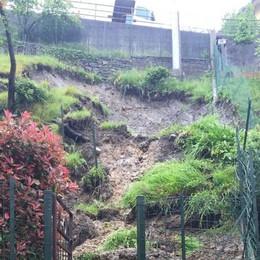 Frana a Sant'Omobono  Paura, ma danni contenuti