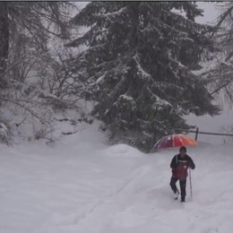 «Ma non poteva scendere a gennaio?» Che nevicata a San Simone - Video