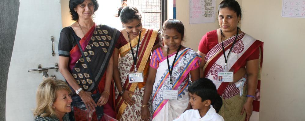 Brembo, una sfida col sorriso Una casa per i bimbi dell'India
