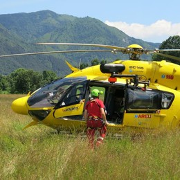 Escursionista cade in montagna Interviene l'elisoccorso
