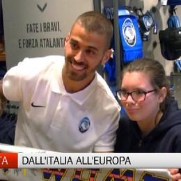 Leonardo Spinazzola all'Atalanta Store