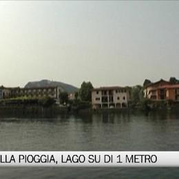 Sarnico - Piove, il livello del lago si alza di un metro