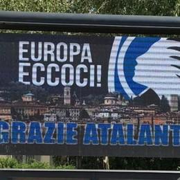 Anche i tabelloni fanno festa per l'Atalanta formato Europa