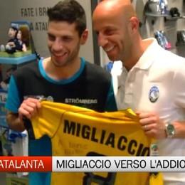 Giulio Migliaccio all'Atalanta Store