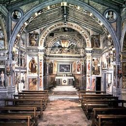 Lallio, gli affreschi si «animano» e raccontano la storia di San Bernardino