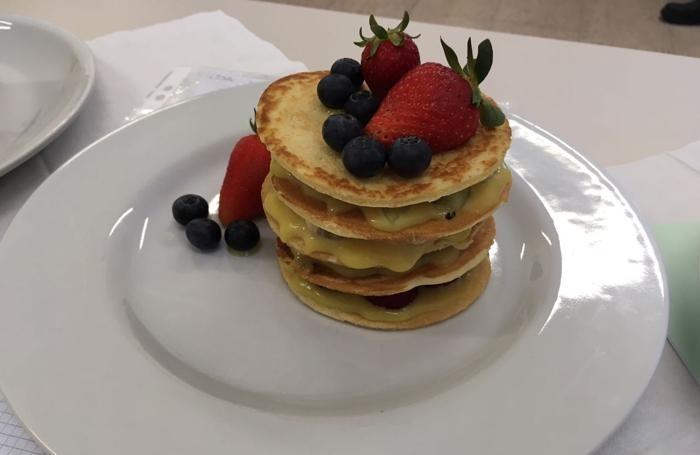 Un altro dei pancake realizzati durante la gara scolastica
